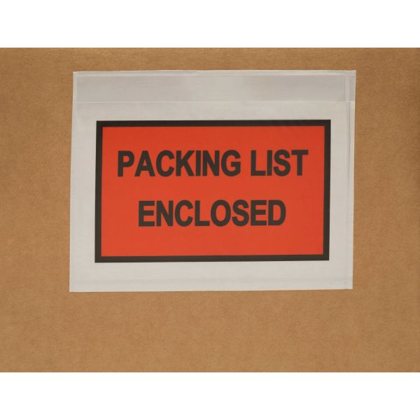 Packing List Enclosed Envelope 4.5 x 5.5 Panel Face Back Side Load 2000 Pieces